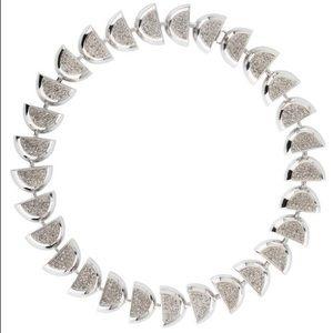 Lele Sadoughi Eclipse Pave Silver Chocker Necklace